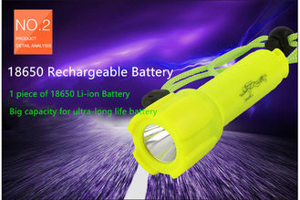 Portable Rechargeable Diving Torch Strong Lighting Performance 200 Meters